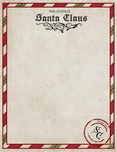 blank letter from santa template free printable great for letters from santa or december