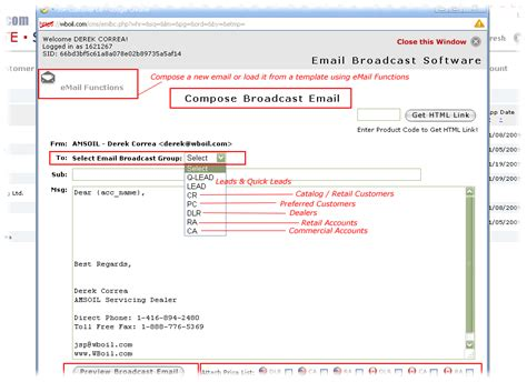 What Is Email Broadcasting System Email Broadcast Template