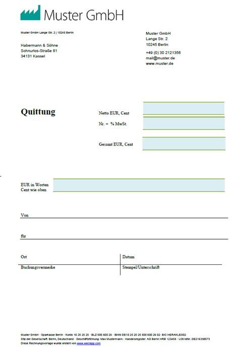 Word Vorlage Quittung Kostenlos Quittungsvorlage Quittungsvordruck Zum Quittung Schreiben