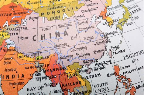 map of china and surrounding countries geography of the countries bordering china