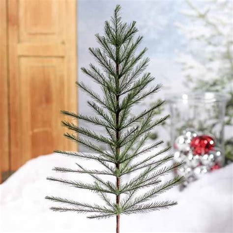 large primitive faux feather pine tree christmas trees