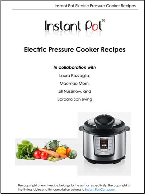 Pdf Electric Pressure Cooker Recipes free electric pressure cooker recipe booklet