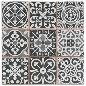 victorian marrakesh black decor wall floor tile 33x33cm ebay