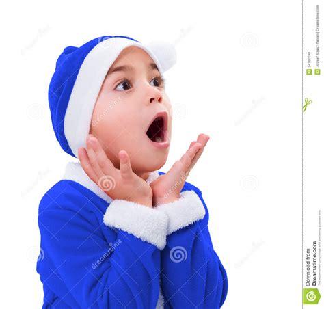 imagenes santa claus azul ni 241 o peque 241 o en el traje azul de santa claus foto de