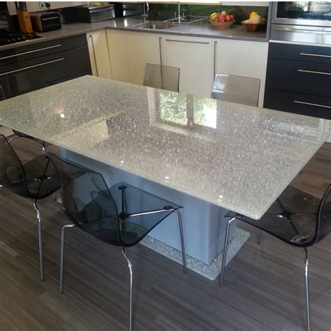 crackle glass dining table crackled glass interior products