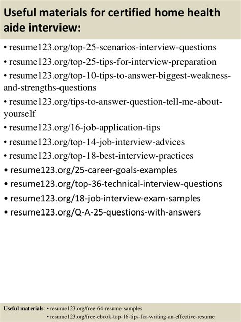 certified home health aide top 8 certified home health aide resume sles