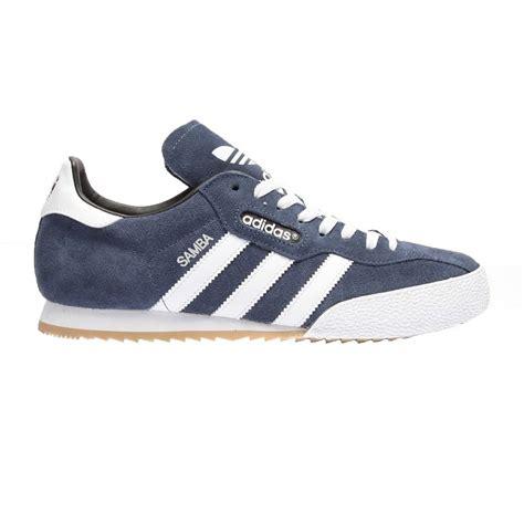 adidas uk adidas adidas samba super suede navy white osf mens
