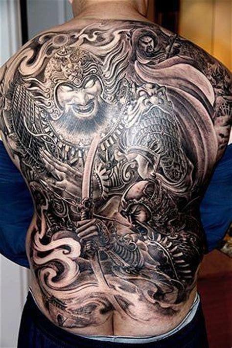tattoo back warrior chinese warrior back tattoo masculine tattoos