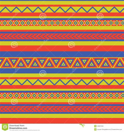 Navajo Rug Patterns Mexico Pattern Stock Vector Image 40697945