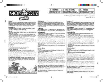 printable monopoly directions hasbro monopoly jr toy game download user guide for free