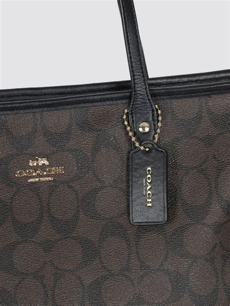 Jual Tas Coach Signature City Zip Tote Brown Black Original Asli 1 coach signature city zip tote bag brown luxury bags