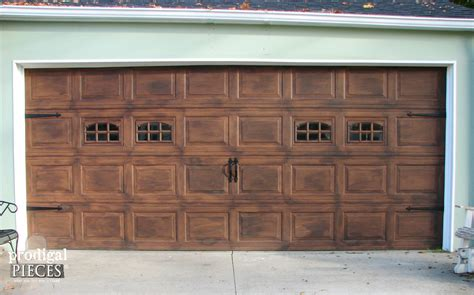 faux garage door painting remodelaholic faux wood carriage garage door tutorial