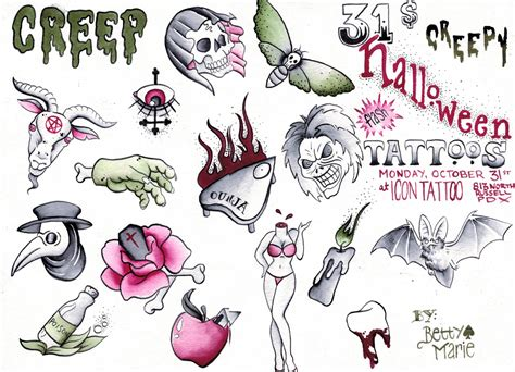 creepy tattoo designs images designs