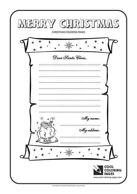 free coloring pages of letters to santa cool coloring pages letter to santa claus no 1 coloring