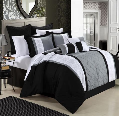 black bed spread black and grey bedspread choozone