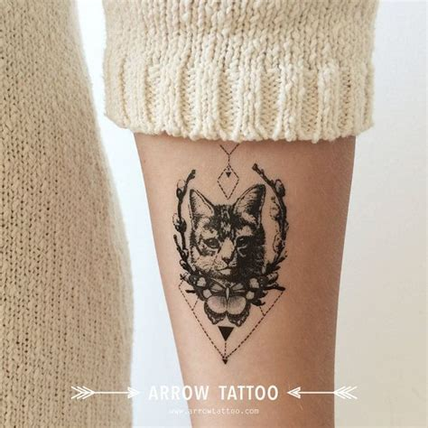 pattern cat tattoo tribal cat tattoo pattern tattoo temporary tattoo wrist