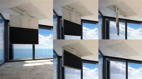 staffe a soffitto per tv tv moving chrst staffa tv motorizzata da soffitto per tv