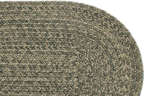 yukon green braided rug