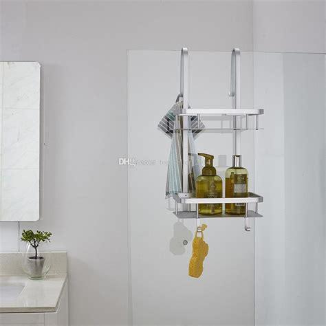 2018 2 tier bathroom over the door shower caddy basket hanging organizer rustproof for shampoo