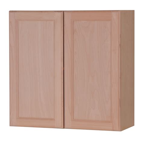 kitchen wall cabinets unfinished shop style selections 30 in w x 30 in h x 12 6 in d