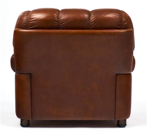 Overstuffed Chairs For Sale Vintage Overstuffed Leather Club Chairs For Sale At
