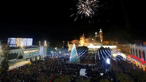 bethlehem tree lighting ceremony 2017 a jerusalem palestine al jazeera