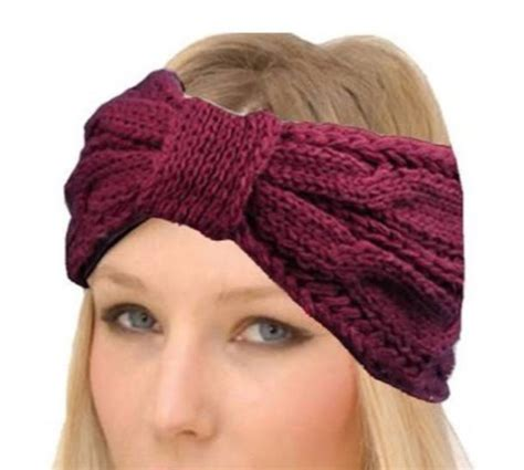 7 Adorable Winter Hats by Hair Accessory Headband White Crochet Fall