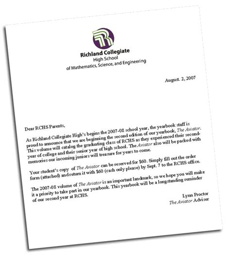 Request Letter For Yearbook Message Rchs Yearbook Page