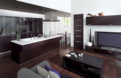 Modern Kitchen And Living Room Colors Konyha A Nappaliban Nappali A Konyh 225 Ban Dettydesign