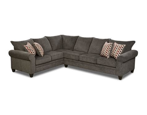 simmons albany sofa with chaise simmons albany pewter sofa chaise baci living room