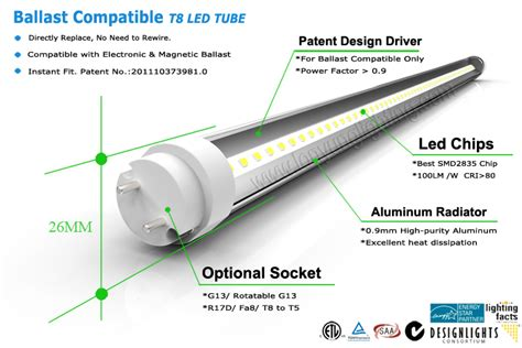 rewire fluorescent light for led no need rewire directly replace ballast compatible led