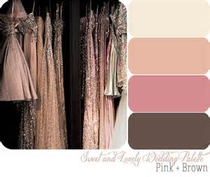 wedding palette pink and brown