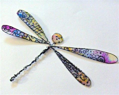 Dragonfly Paper Craft - tissue paper dragonfly allfreepapercrafts