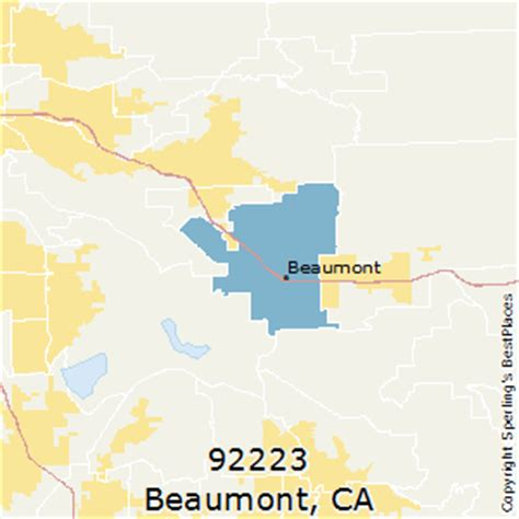 beaumont zip code map best places to live in beaumont zip 92223 california