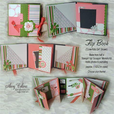 Handmade Flip Book - scrapbooking gifts classes at the scrappinggetaways