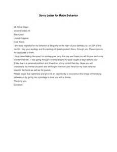 Sle Apology Letter For Rude Behavior Apology Letter For Rude Behavior Pictures To Pin On Pinsdaddy