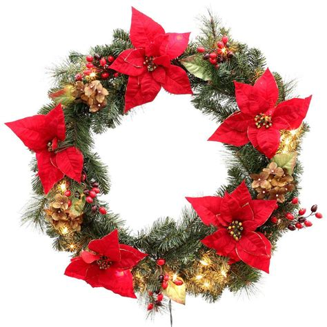holiday wreath martha stewart living 32 in winterberry artificial wreath