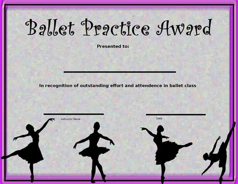 templates for dance certificates 8 best images of dance award certificate templates free