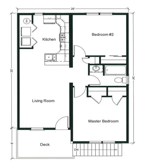 floor plan 2 bedroom bungalow 2 bedroom bungalow floor plan plan and two