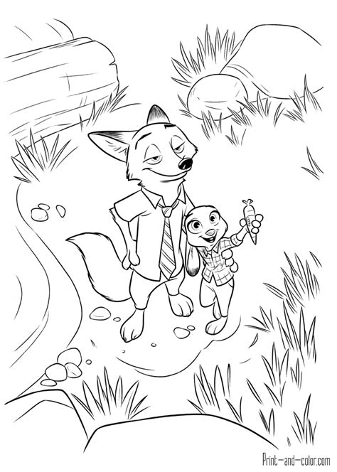 Print And Color Pages zootopia coloring pages print and color
