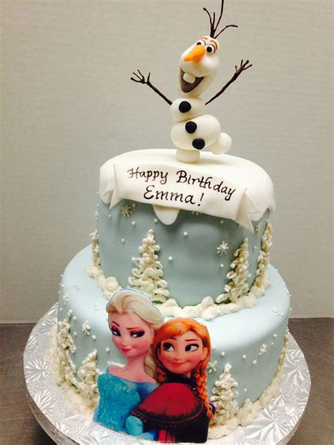 disney s frozen custom birthday cake by plumeria cake studio 3d olof topper fondant artwork of