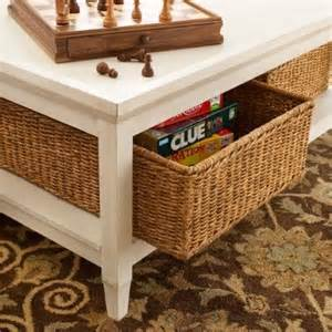 Coffee Table With Basket Storage Underneath Pin By Schwerin On Interior Design Inspirations