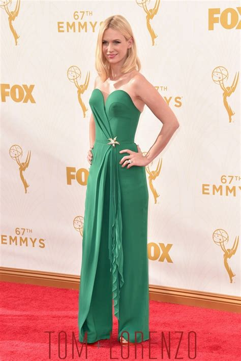 fashion recap 2015 emmy awards red carpet emmys 2015 january jones in ulyana sergeenko couture