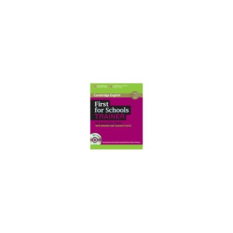 first for schools trainer 110744604x first for schools trainer with answers cd cambridge libroidiomas