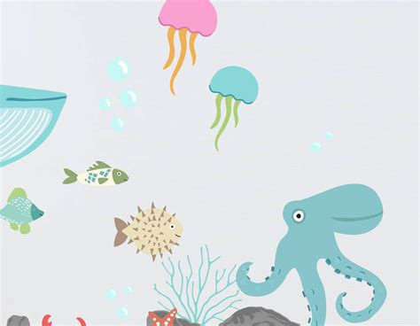the sea wall stickers children s the sea wall sticker set contemporary