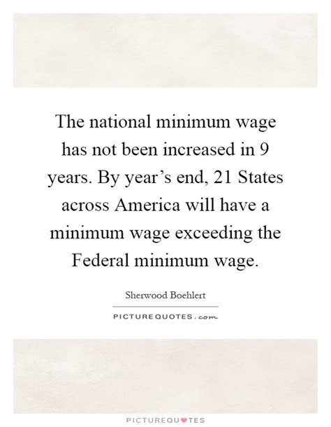 minimum wage 21 the national minimum wage has not been increased in 9
