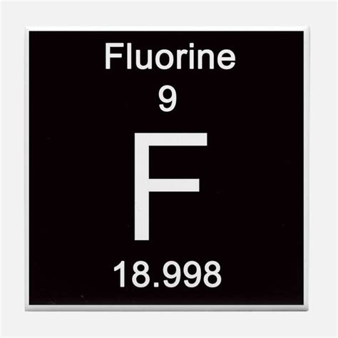 Fluorine Periodic Table by Fluorine Coasters Cork Puzzle Tile Coasters Cafepress