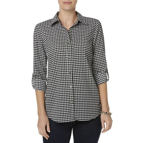 Blouse Houndstooth smith s utility blouse houndstooth