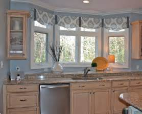 kitchen valances ideas the ideas of kitchen bay window treatments theydesign