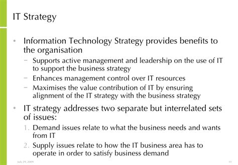 strategy statement template ict vision and strategy development